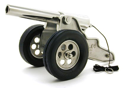 Deluxe Chrome Winchester Cannon with Rubber Tires